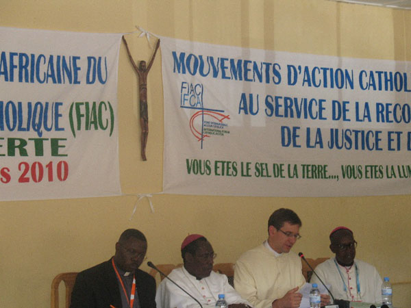 Reading the message of the Apostolic Nuncio