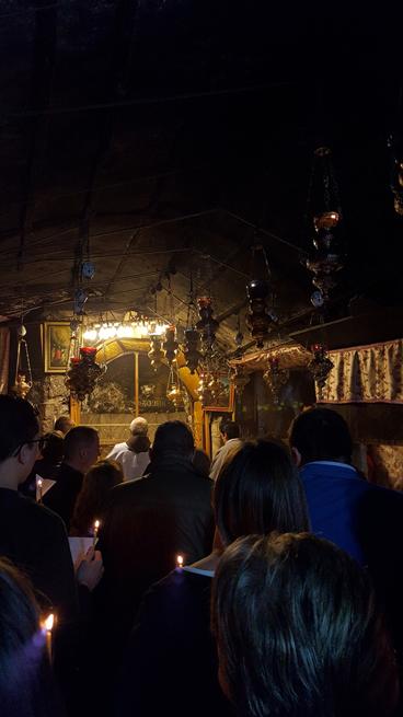 Preghiera alla Grotta della Natività