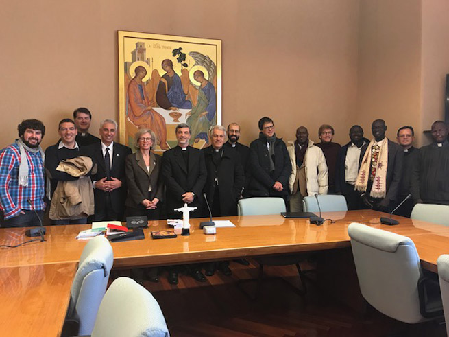 Incontro al DLFV con p. Alexandre Awi, Avv. Linda Ghisoni, p.Joao Chagas, p. Giovanni Buontempo